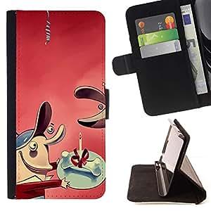 Momo Phone Case / Flip Funda de Cuero Case Cover - Comic hueso regalo perro - Apple Iphone 5C