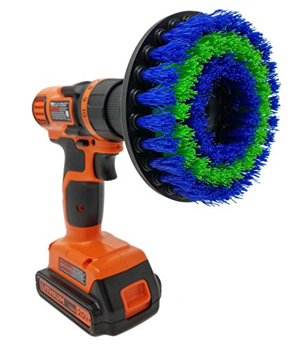 "Medium 5"" Drill Brush Attachment: Beast Brush Spin Power Scrubber for Fast and Easy Cleaning, Medium Bristles"