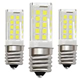 KINDEEP Ceramic E17 LED Bulb for Microwave Oven Appliance, 5W (40W Halogen Bulb Equivalent), Daylight White 6000K, 3-Pack