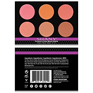 SHANY Cosmetics Fuchsia 6 Color Blush Palette, 8 Ounce