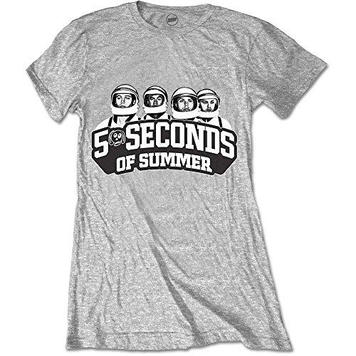 5 Seconds Of Summer 5SOS espacés l'équipage dames gris t-shirt grand
