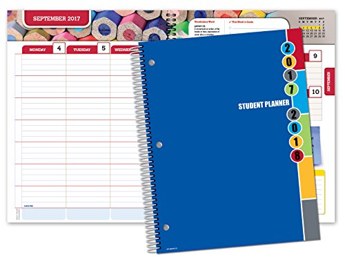Dated Middle School Or High School Student Planner For Academic Year 2017 2018  Matrix Style   8 5 X11