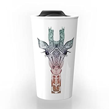 Amazon.com: Society6 GiRAFFE Travel Mug 12 oz: Kitchen & Dining