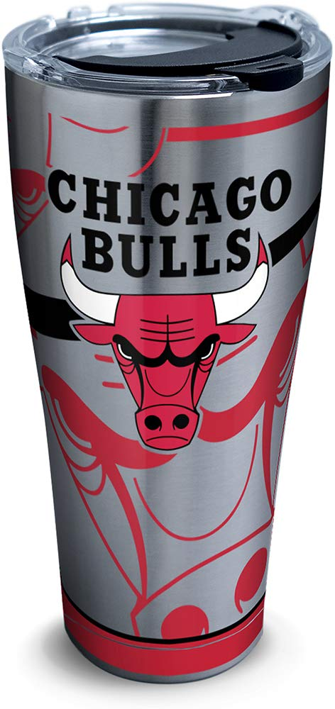 Tervis 1281696 Nba Chicago Bulls Paint Stainless Steel Tumbler with Lid, 30 oz, Silver by Tervis