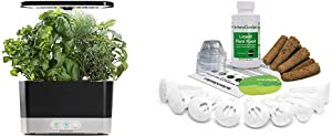 AeroGarden Black Harvest Indoor Hydroponic Garden, 2019 Model & Grow Anything Seed Pod Kit, 9
