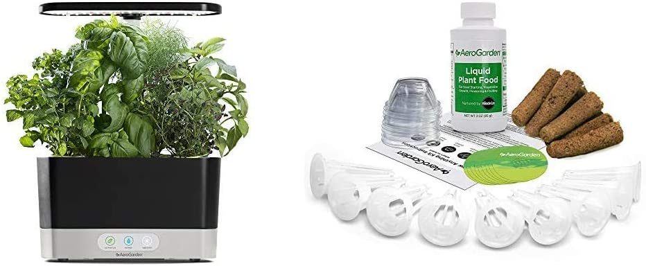 Amazon Com Aerogarden Black Harvest Indoor Hydroponic Garden 2019 Model Grow Anything Seed Pod Kit 9 Garden Outdoor