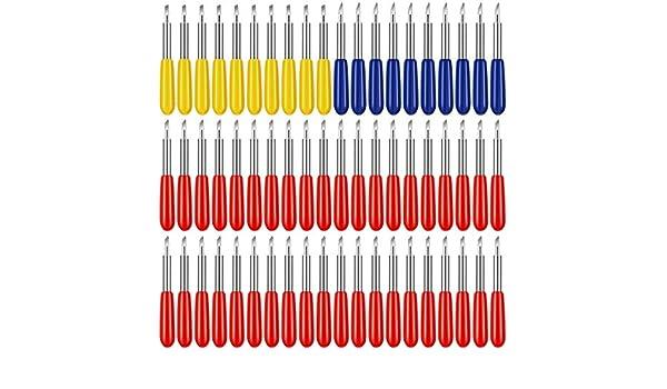 Monland 100 Cuchillas de Corte, para Explore Air/Air 2 Maker Expression 30/40/60 Grados de Cuchillas de Repuesto para Plotter de Corte: Amazon.es: Bricolaje y herramientas