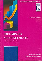 Preliminary Announcements: A Guide to Better Practice (Financial Statements Series)