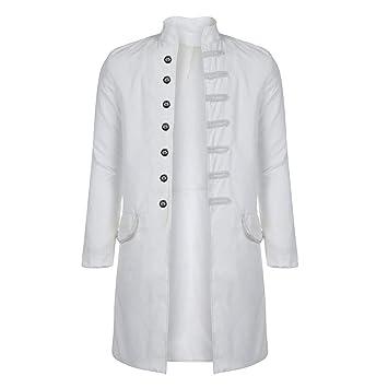 LuckyGirls Chaqueta Largo para Hombre Capa Chándales Cazadoras Abrigo Vintage Chaquetas De Traje y Americanas (