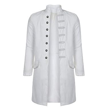 JiaMeng Abrigo Estampado Abrigo Chaqueta Chaqueta gótica Traje de Uniforme Uniforme Praty Outwear Abrigo Invierno de Traje de Invierno para Hombre: ...