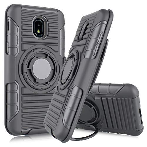 - for Samsung Galaxy J3 2018/J3 Star/J3 Achieve/Express Prime 3/Amp Prime 3 Case, Black Ring Grip Case Cover + Belt Clip Holster Stand + Magnetic Car Mount