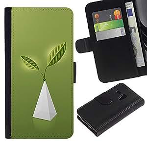 UNIQCASE - Samsung Galaxy S3 MINI NOT REGULAR! I8190 I8190N - Pyramid of Life - Cuero PU Delgado caso cubierta Shell Armor Funda Case Cover
