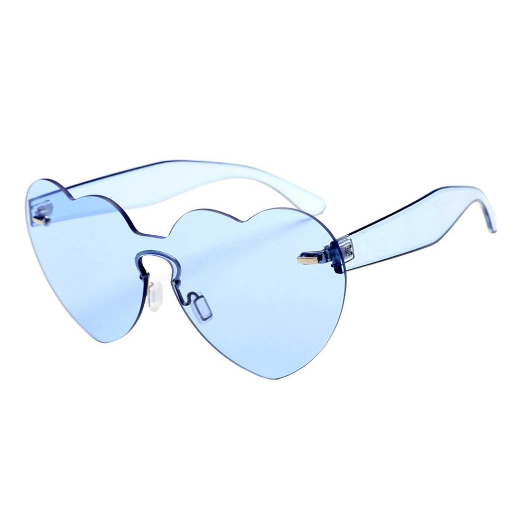 Vertily Outdoor Fashion Designer Heart-Shaped Shades Candy Colored Sunglasses FSSG-342