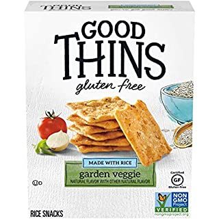 Good Thins Garden Veggie Rice Snacks Gluten Free Crackers, 3.5 oz