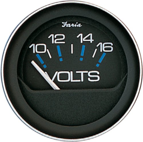 Faria 13010 Coral 10-16V Voltmeter ()