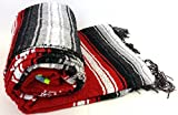 Heavyweight Red Diamond Mexican Yoga Blanket, Extra Thick Serape Review