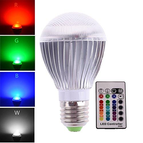 LONOVE RGB Light Bulb LED 10W Ir Wireless Remote Control E26 E27 16 Colors Changing Magic Moon Night Lamp