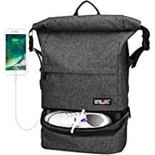 Travel Backpack, Lifeasy Waterproof Anti-Theft Wet Separation Roll Top Business Laptop Bag Lightweight Daypack for Adults (Black)