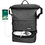 Travel Backpack, Lifeasy Waterproof Anti-Theft Wet Separation Roll Top Business Laptop Bag Lightweight