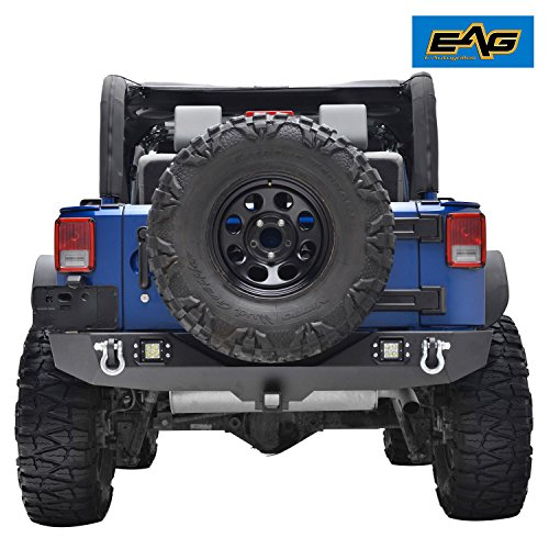 EAG Rear Bumper With Two Square LED Lights & 2