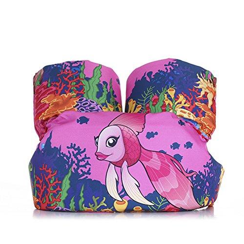 ZeHui Puddle Jumper Basic Life Jacket Baby Life Vest Jackets Kids Swim Trainer Buoyancy Swimsuit Swimming Pool Accessories pink fish free size