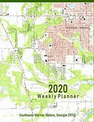Map Of Southwest Georgia.2020 Weekly Planner Southwest Warner Robins Georgia 1973