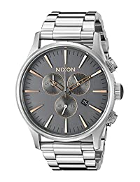 Nixon Men's A3862064 Sentry Chrono Stainless Steel Watch