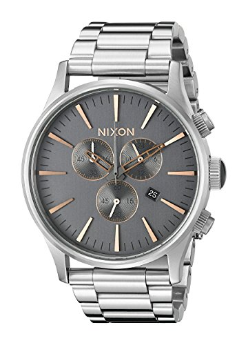 Nixon-Mens-A3862064-Sentry-Chrono-Stainless-Steel-Watch