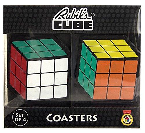 Rubik 's  Rubik 's cubeshaped Untersetzer (4 Stück) (ideal für Secret Santa) B01MRHRCZW Bau- & Konstruktionsspielzeug Neues Design | eine breite Palette von Produkten