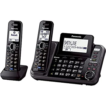 Panasonic Kx-tg9542b Link2cell Bluetooth Enabled 2-line Phone With Answering Machine & 2 Cordless Handset 1