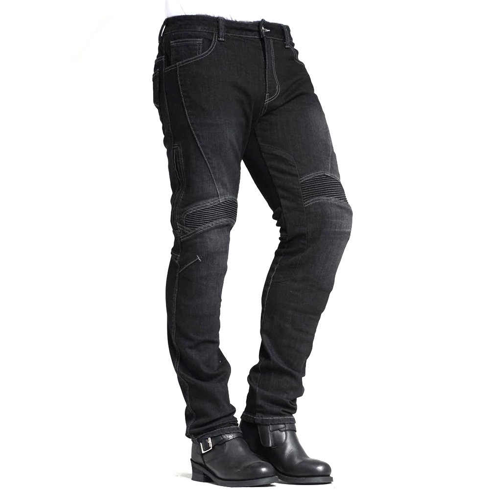 MAXLER Jean Biker Jeans for Men Motorcycle Motorbike Riding Kevlar Jeans 1604 Grey 34 Maxlerjean C41105H
