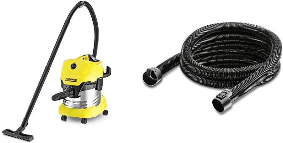 Kärcher WD4 Premium - Aspirador en seco y húmedo, 1000 W, 20 l + Kärcher Prolongación de manguera de aspiración de 35m: Amazon.es: Bricolaje y herramientas