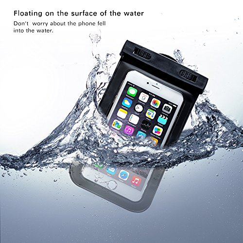 KingCool Universal Waterproof Case Bag Pouch 2 Pack for Apple iPhone 6, 6 Plus, 5S 5C 5 4S, Samsung Galaxy S5, S4,...