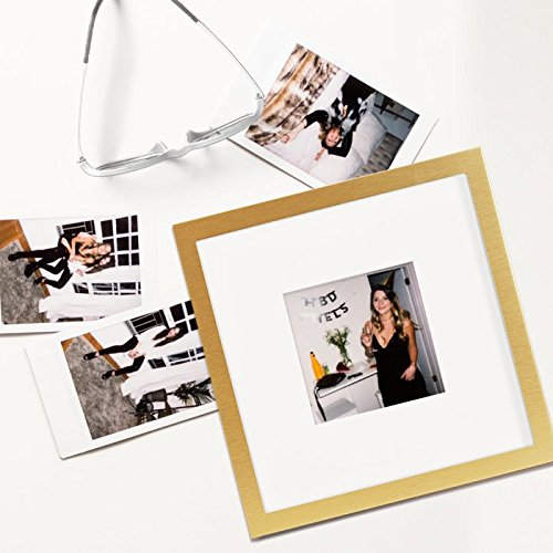 Tiny Mighty Frames - Brushed Metal, Square Instagram Photo Frame ...