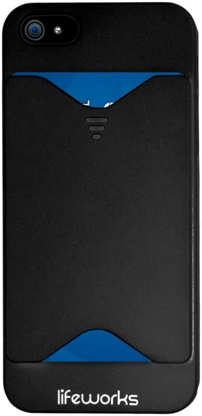 Lifeworks Credit Card - Stores Up to 4 Cards Case for iPhone 5/5s (Black)