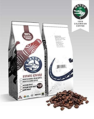 Gator Coffee Roasted Coffee Beans Castillo Microlot, 100% Colombian Coffee Single Origin Direct Trade, Artisan Roasted Medium City Roast 5 pounds
