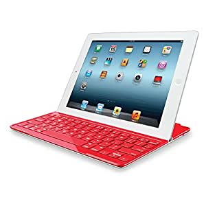 logitech ultrathin keyboard cover red for ipad 2 and ipad 3rd 4th generation. Black Bedroom Furniture Sets. Home Design Ideas
