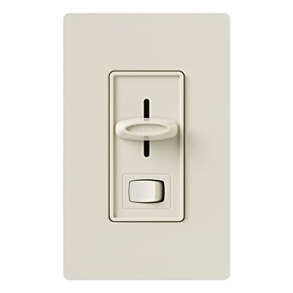 Lutron SELV-300P-LA Skylark 300-Watt Single Pole Electronic Low-Voltage Dimmer with On/Off Switch, Light Almond - - Amazon.com