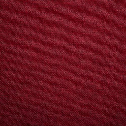 SKM 2 pcs Chaises pivotantes de Salle à Manger Rouge Bordeaux Tissu