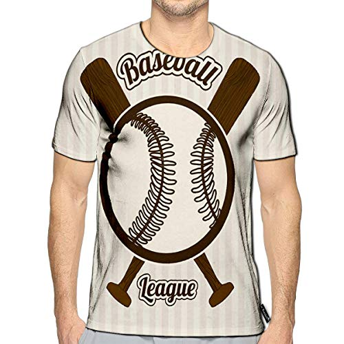 Randell 3D Printed T-Shirts Baseball League Over Lineal Short Sleeve Tops - Lineal Light