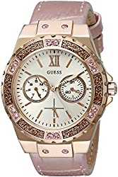 GUESS Women's U0775L3 Light Pink and Rose Gold-Tone Multi-Function Watch