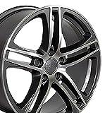 audi a5 rims - 18x8 Wheel Fits Audi, Volkswagen - Audi R8 Style Gunmetal Rim w/Mach'd Face - Set of 4