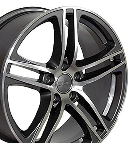 - OE Wheels 17 Inch Fits Volkswagen CC Beetle Audi A3 A8 A4 A5 A6 TT R8 Style AU07 Gunmetal Machined 17x7.5 Rim