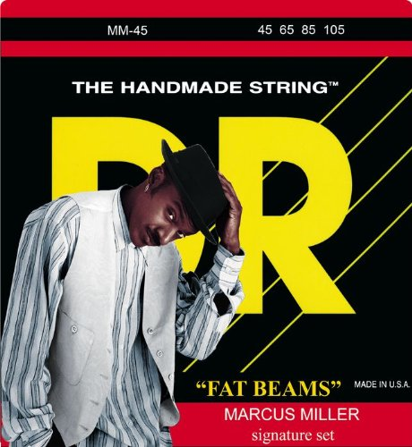 DR Strings Bass Strings Fatbeam, Marcus Miller Signature Stainless Steel Round Core Bass 45-105, Outdoor Stuffs