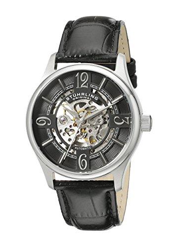 Stuhrling Original Men's 992.01 Legacy Analog Display Automatic Self Wind Black Watch