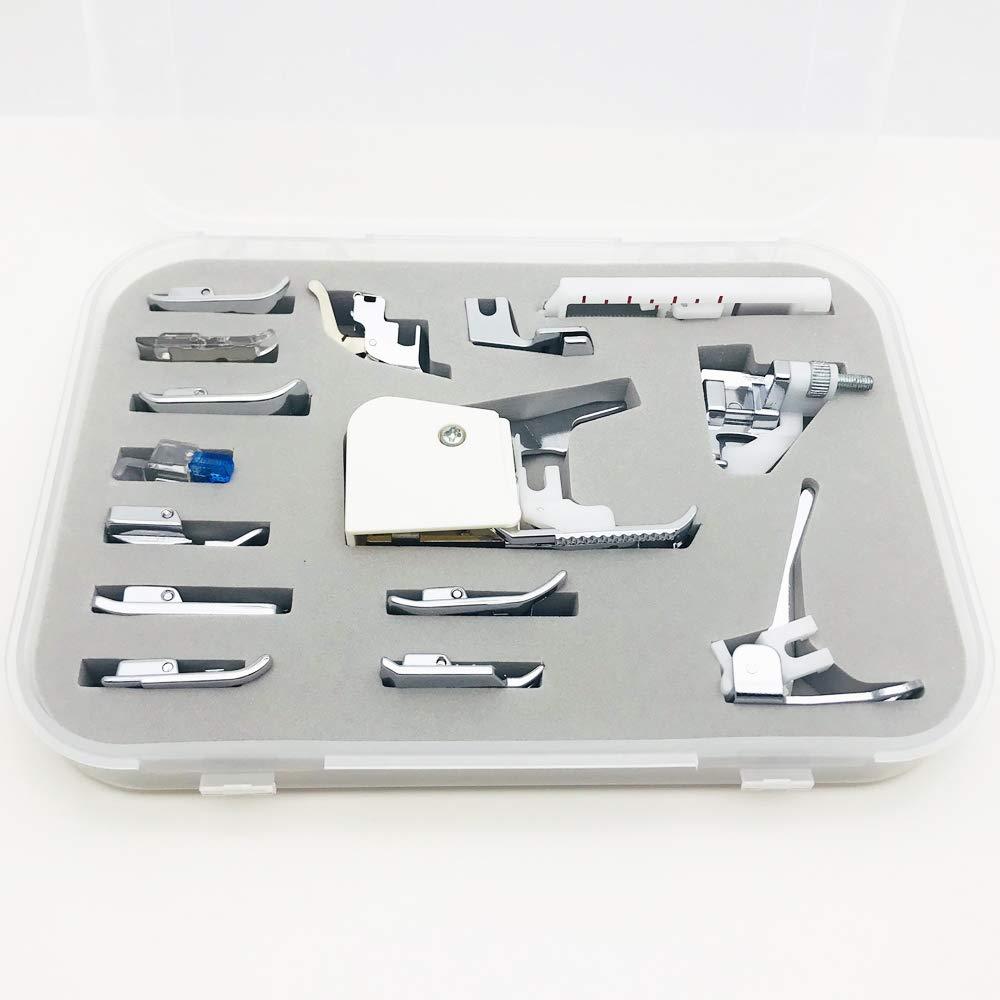 Austin® Premium 15 Piezas Máquina de Coser Kit de Regalo en Caja con Instrucciones para Adaptarse a Brother Singer Toyota Janome Necchi Silver Crest y ...