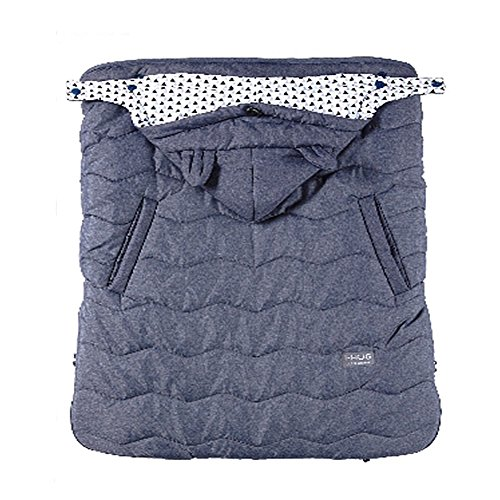 (CNC IHug Baby Warmer Fur Cover For Hip Seat Baby Carrier, Winter Carrier Cover (Denim Navy))