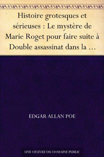Amazoncom Histoire Grotesques Et Sérieuses Le Mystère De Marie