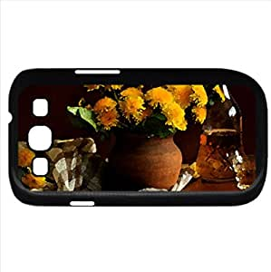Still life (Flowers Series) Watercolor style - Case Cover For Samsung Galaxy S3 i9300 (Black)