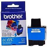Brother  LC41C Cyan Ink Cartridge - Retail Packaging